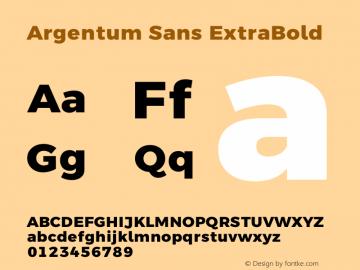 Argentum Sans ExtraBold Version 5.001;March 13, 2019;FontCreator 11.5.0.2425 64-bit图片样张