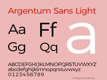 Argentum Sans Light Version 5.001;March 13, 2019;FontCreator 11.5.0.2425 64-bit图片样张