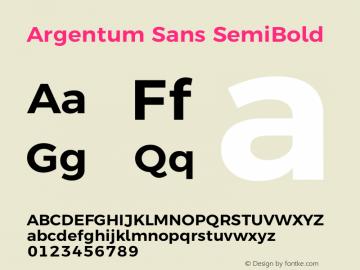 Argentum Sans SemiBold Version 5.001;March 13, 2019;FontCreator 11.5.0.2425 64-bit图片样张