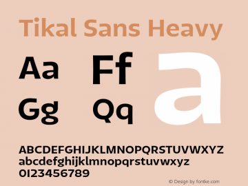 TikalSans-Heavy Version 1.001图片样张