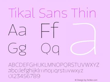 TikalSans-Thin Version 1.001图片样张