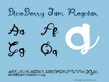 BlueBerry Jam Version 1.002;Fontself Maker 3.1.1图片样张