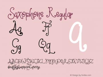 Saxophone Version 1.00;March 11, 2019;FontCreator 11.5.0.2430 64-bit图片样张