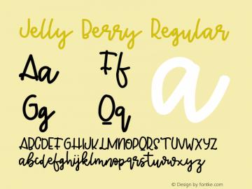 Jelly Berry Version 1.00;March 11, 2019;FontCreator 11.5.0.2430 64-bit图片样张