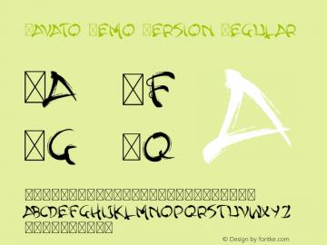 Yavato Demo Version Version 1.004;Fontself Maker 3.0.2图片样张