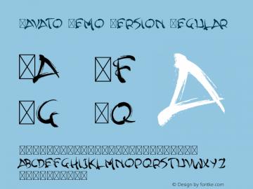 YavatoDemoVersionRegular Version 1.004;Fontself Maker 3.0.2图片样张
