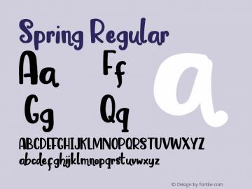 Spring Version 1.00;March 11, 2019;FontCreator 11.5.0.2430 64-bit图片样张