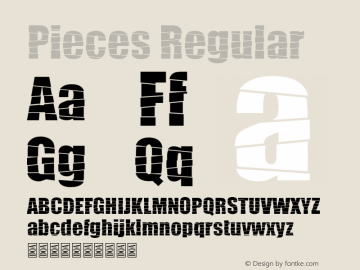 Pieces Version 1.00;March 11, 2019;FontCreator 11.5.0.2422 64-bit图片样张
