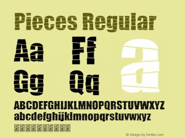 Pieces Version 1.00;March 11, 2019;FontCreator 11.5.0.2422 64-bit图片样张