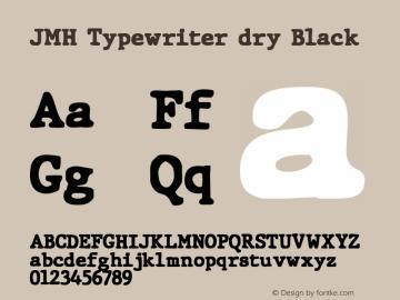 JMHTypewriterdry-Black Version 1.006图片样张