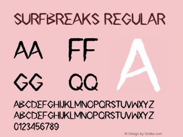 Surfbreaks Version 1.00;March 12, 2019;FontCreator 11.0.0.2408 32-bit图片样张