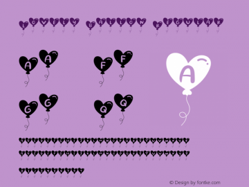 Lovely Ballon Version 1.002;Fontself Maker 3.1.1图片样张