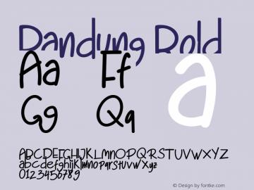 Bandung-Bold Version 1.000图片样张