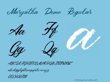 MaryathaDemo-Regular Version 1.000图片样张