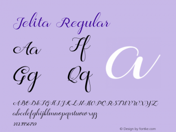 Jelita Version 1.000图片样张