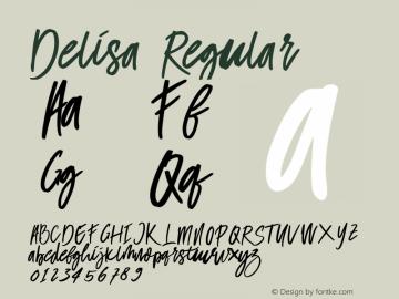 Delisa-Regular Version 1.000图片样张