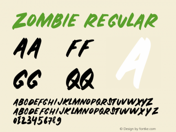 ZOMBIE-Regular Version 1.000图片样张