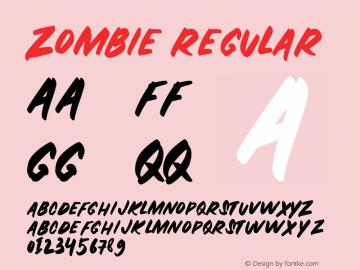ZOMBIE-Regular Version 1.000图片样张