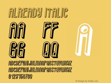 Already Italic Version 1.000图片样张