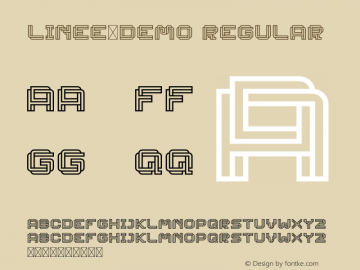 Linee-DEMO Version 1.002;Fontself Maker 3.1.1图片样张