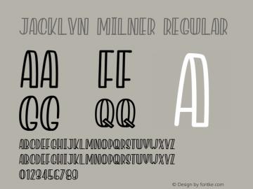 Jacklyn Milner Version 1.003;Fontself Maker 3.1.1图片样张