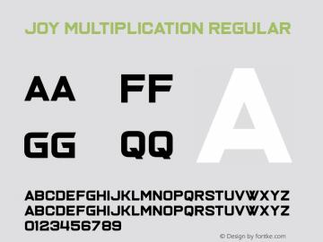 Joy Multiplication Version 1.00;March 15, 2019;FontCreator 11.5.0.2430 64-bit图片样张