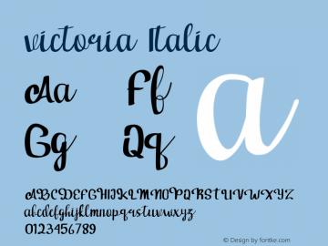 victoria  Italic Version 1.000图片样张