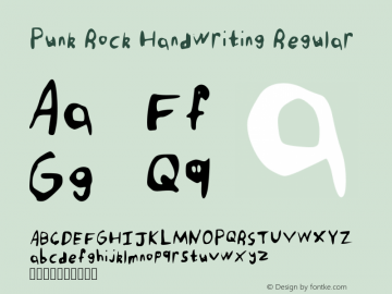 Punk Rock Handwriting Regular Version 001.001图片样张