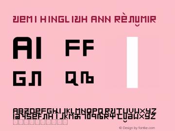 SEMI HINGLISH ANN Regular Version 1.0图片样张