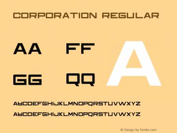 Corporation Version 1.00;March 15, 2019;FontCreator 11.5.0.2421 32-bit图片样张