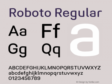 Roboto Regular Version 1.005 | CWR FONToMASS Premium compilation图片样张