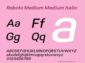 Roboto Medium Italic Version 1.005   CWR FONToMASS Premium compilation图片样张