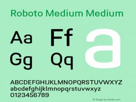 Roboto Medium Version 1.005   CWR FONToMASS Premium compilation图片样张