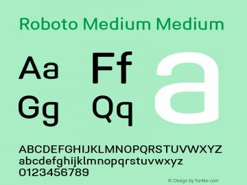Roboto Medium Version 1.005 | CWR FONToMASS Premium compilation图片样张