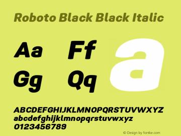 Roboto Black Italic Version 1.005 | CWR FONToMASS Premium compilation图片样张