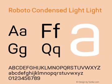 Roboto Condensed Light Version 1.005 | CWR FONToMASS Premium compilation图片样张