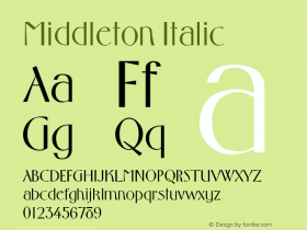 Middleton Italic Altsys Metamorphosis:4/1/92 Font Sample