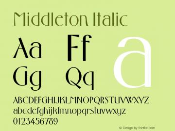 Middleton Italic Altsys Metamorphosis:4/1/92图片样张