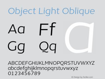 Object-LightOblique Version 1.002;PS 001.002;hotconv 1.0.88;makeotf.lib2.5.64775;YWFTv17 Font Sample