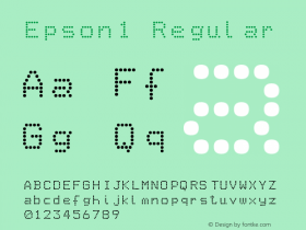 Epson1 Regular Version 1.0 Font Sample