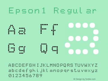 Epson1 Regular Version 1.0 Font Sample
