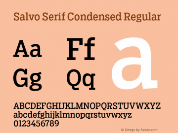 SalvoSerif-CondensedRegular Version 1.000图片样张