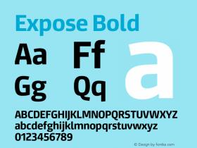 Expose-Bold Version 1.000;PS 001.000;hotconv 1.0.88;makeotf.lib2.5.64775图片样张