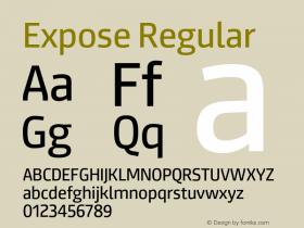 Expose-Regular Version 1.000;PS 001.000;hotconv 1.0.88;makeotf.lib2.5.64775图片样张