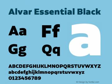 Alvar Essential Black Version 1.000;PS 001.000;hotconv 1.0.88;makeotf.lib2.5.64775图片样张