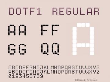 Dotf1 Regular Unknown Font Sample