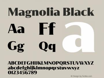 Magnolia Black Version 1.001;PS 001.001;hotconv 1.0.88;makeotf.lib2.5.64775图片样张