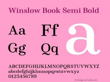 WinslowBook-SemiBold Version 1.000图片样张