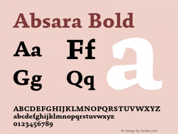 Absara-Bold Version 7.504图片样张