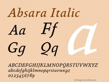 Absara-Italic Version 7.504图片样张